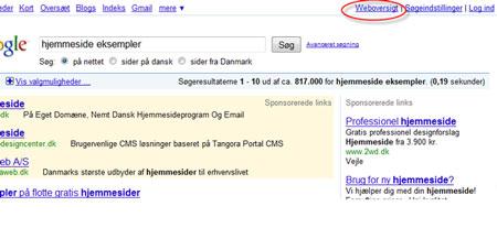 Lav en søgning i Google