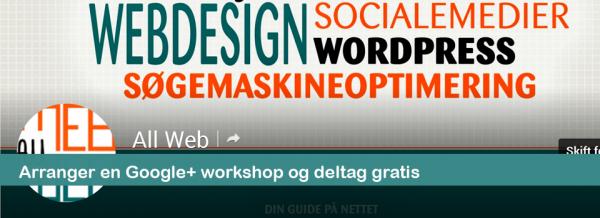 Arranger en Google Plus workshop og deltag selv gratis