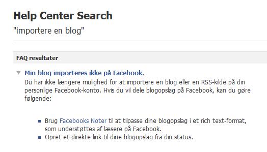 Hvorfor vises mine blogindlæg ikke på Facebook?