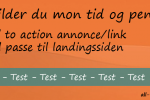 Call to action skal passe med landingside