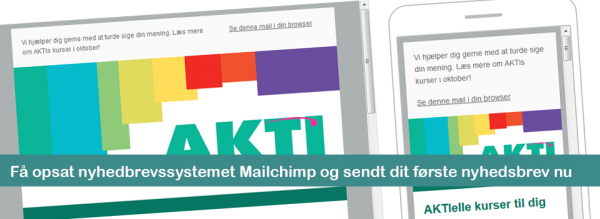 Få opsat nyhedbrevssystemet Mailchimp og sendt dit første nyhedsbrev nu