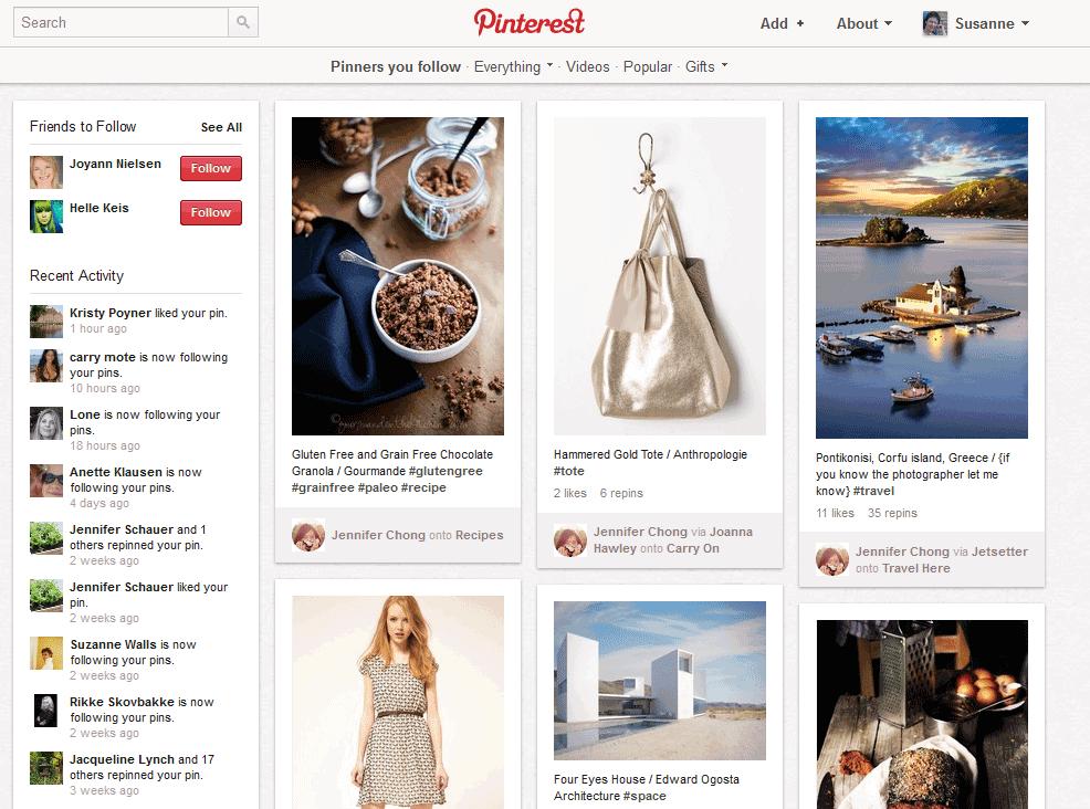 Pinterest – et interessant socialt netværk